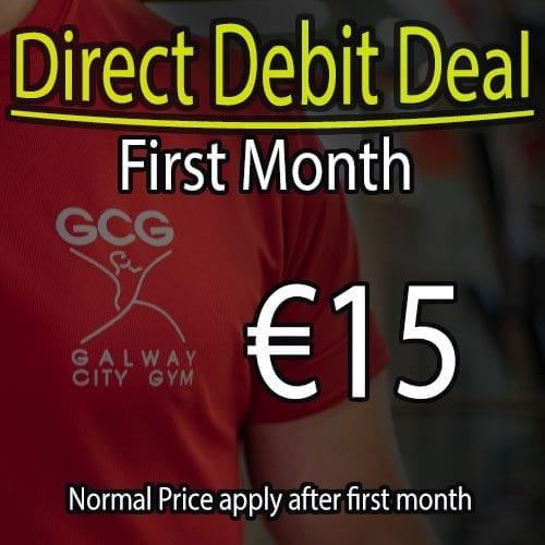 First month €15  Direct debit offer